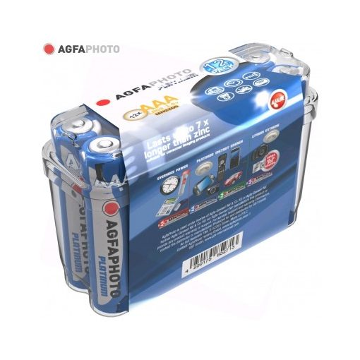 AgfaPhoto Alkáli Platinum Mikro Elem AAA B12
