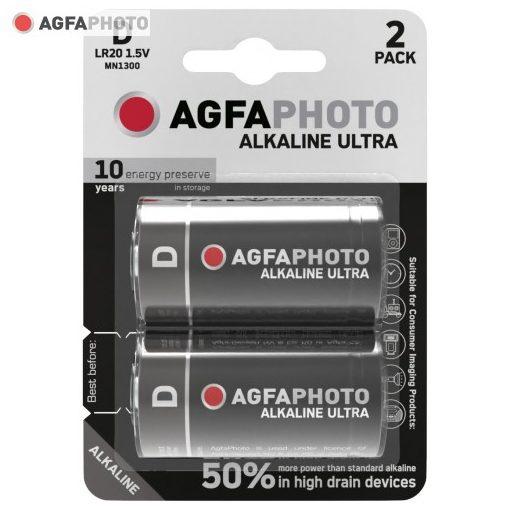 AgfaPhoto Ultra Alkáli Góliát Elem D B2