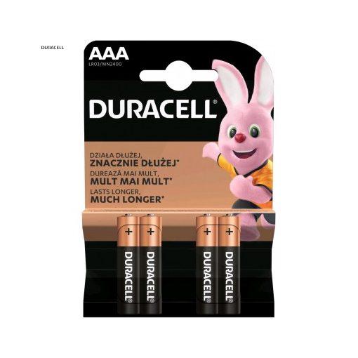 Duracell Basic Alkáli Mikro Elem AAA B4
