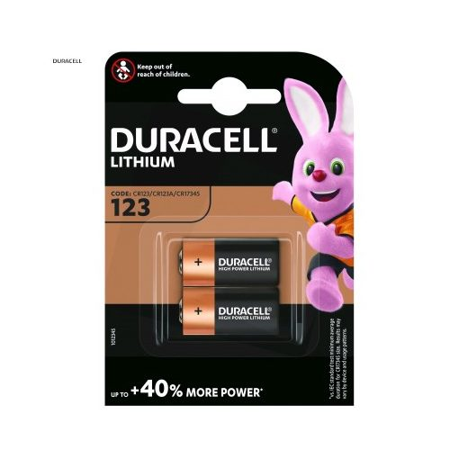 Duracell Fotóelem Lítium CR123A B2