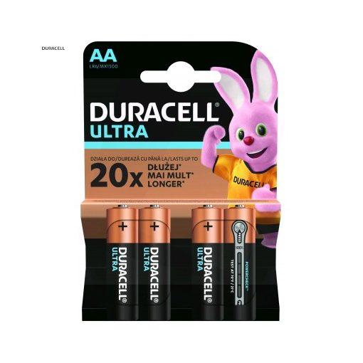 Duracell Ultra Alkáli Ceruza Elem AA B4