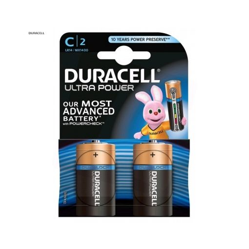 Duracell Ultra Alkáli Baby Elem C B2