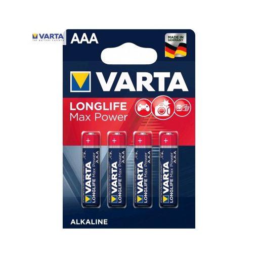 Varta Longlife Max Power Alkáli Mikro Elem AAA B4